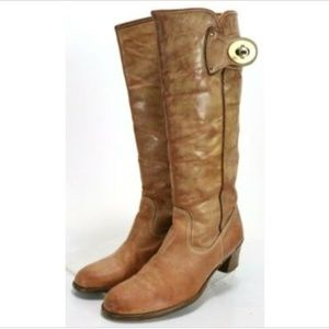 Coach Women's Western Boots Size 11 Made In Italy